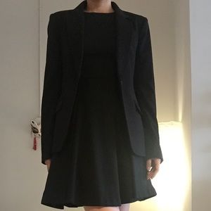 H&M black suit top, like new